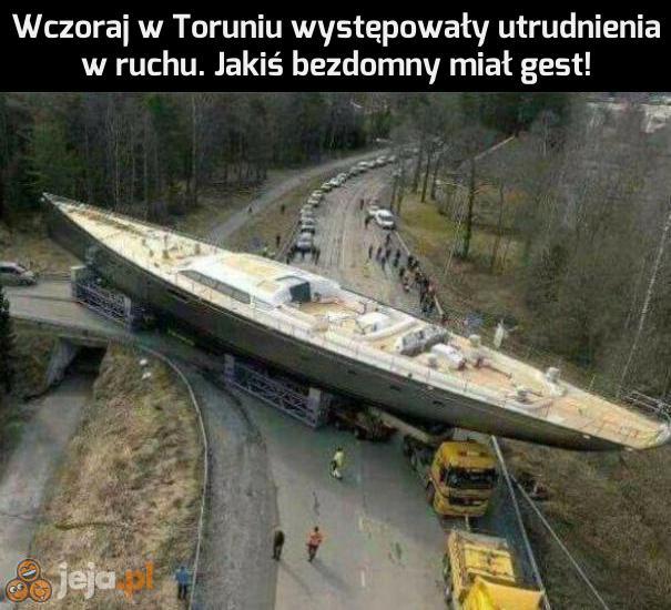 Utrudnienia w Toruniu