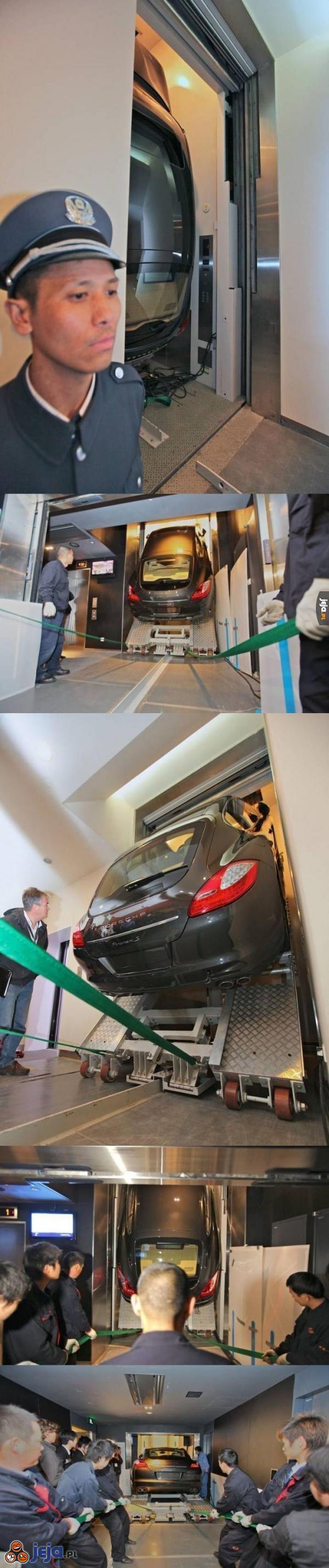 Jak przetransportować Porsche na 19 piętro