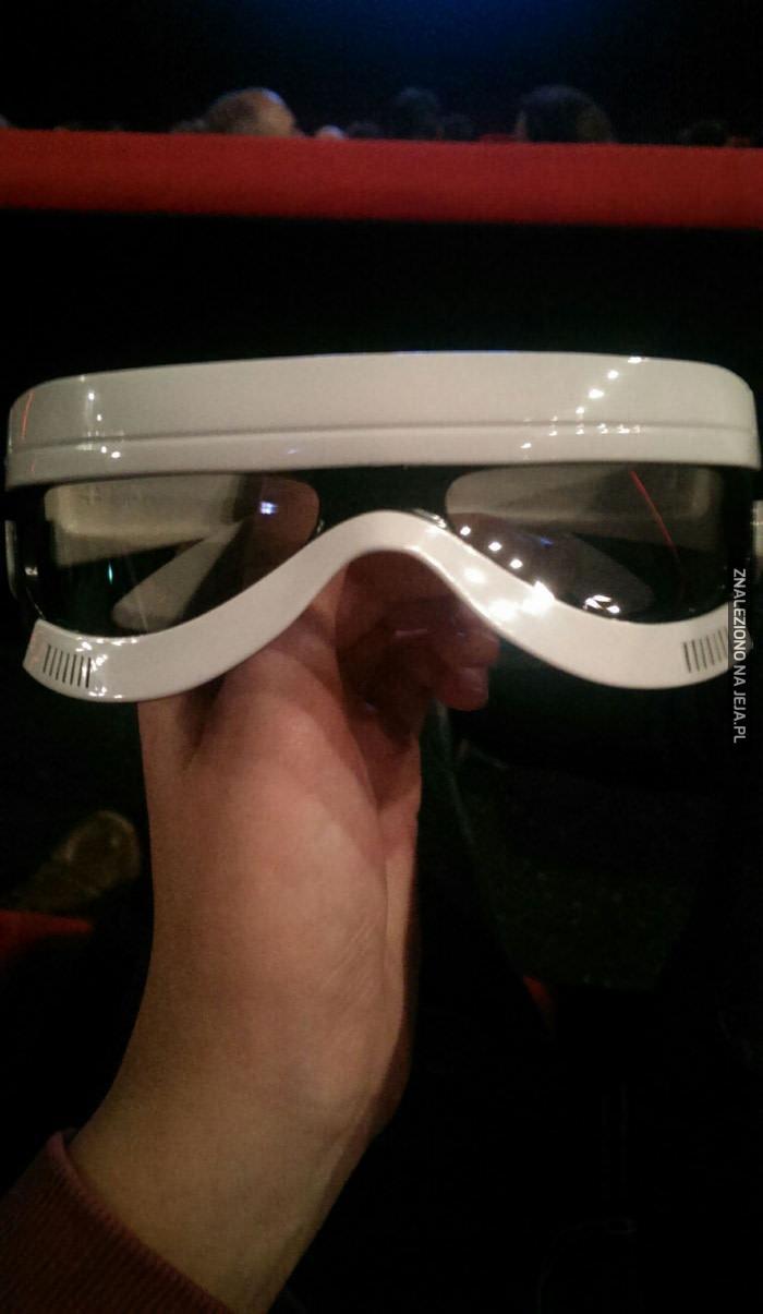 Okulary 3D, które sprzedawali na premierze SW