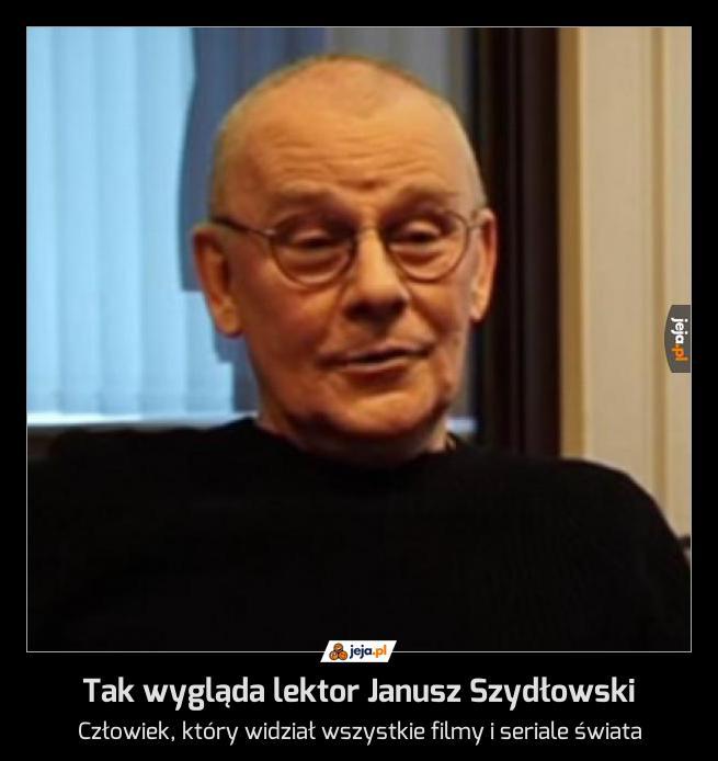 Tak wygląda lektor Janusz Szydłowski