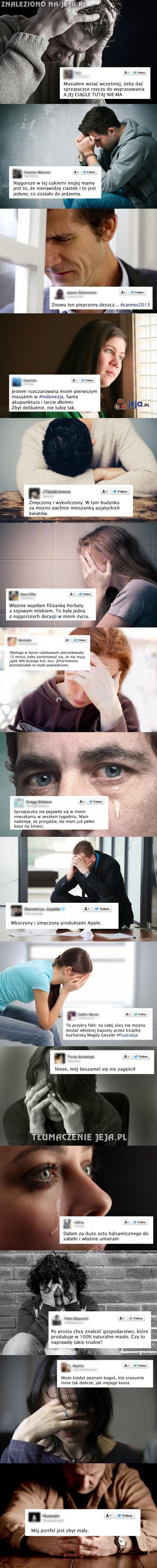 Problemy pierwszego świata na Twitterze