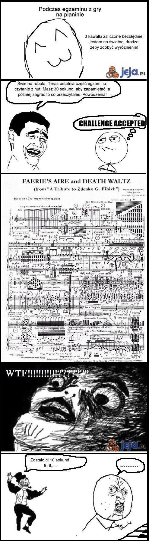 Egzamin w szkole muzycznej
