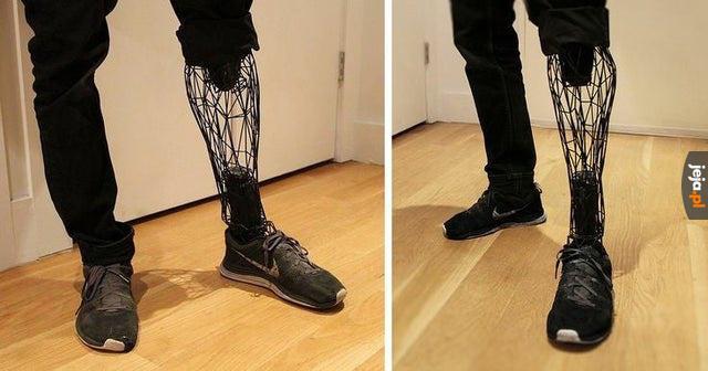 Sztuczna noga wydrukowana w drukarce 3D