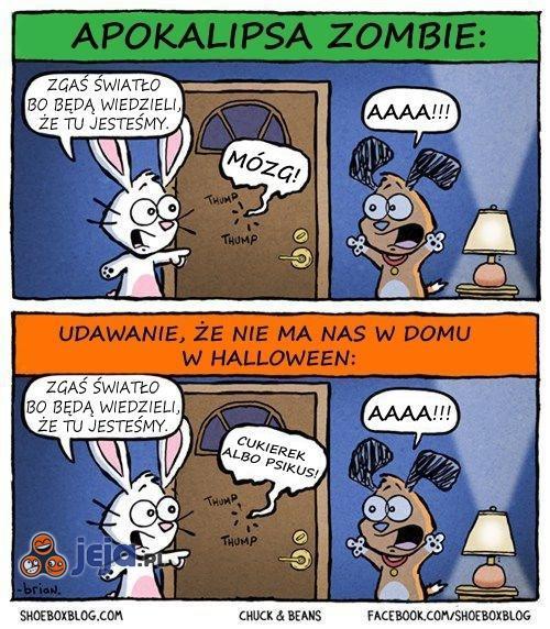 Różnica między halloween a apokalipsą zombie