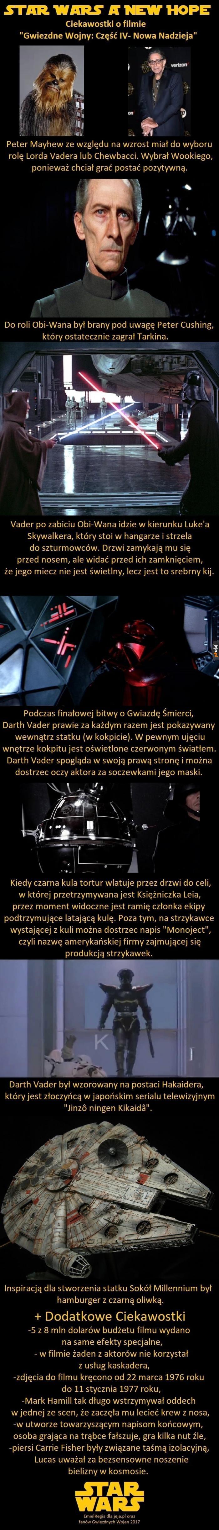 Ciekawostki o IV części SW