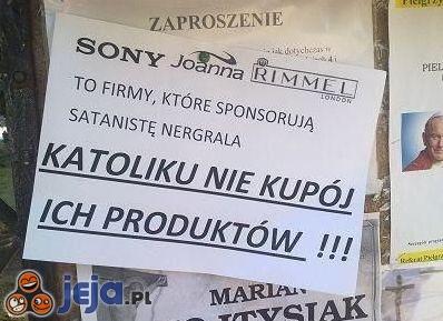 """Firmy sponsorujące """"satanistę Nergrala"""""""