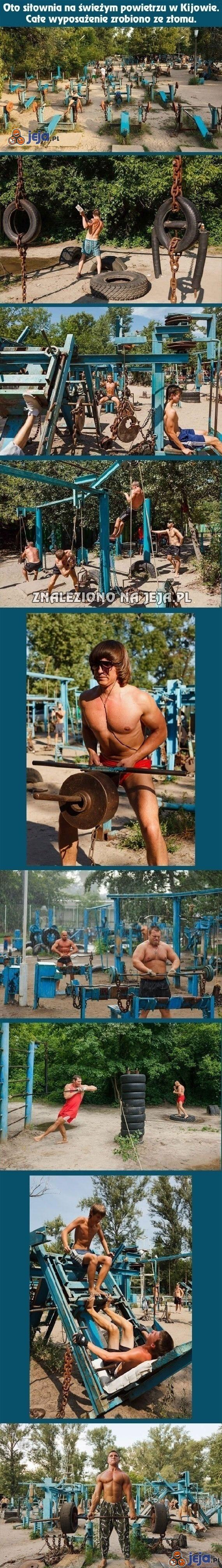 Ukraińska siłownia ze złomu