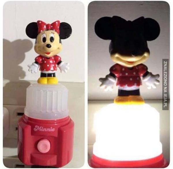 Złowroga lampka Minnie