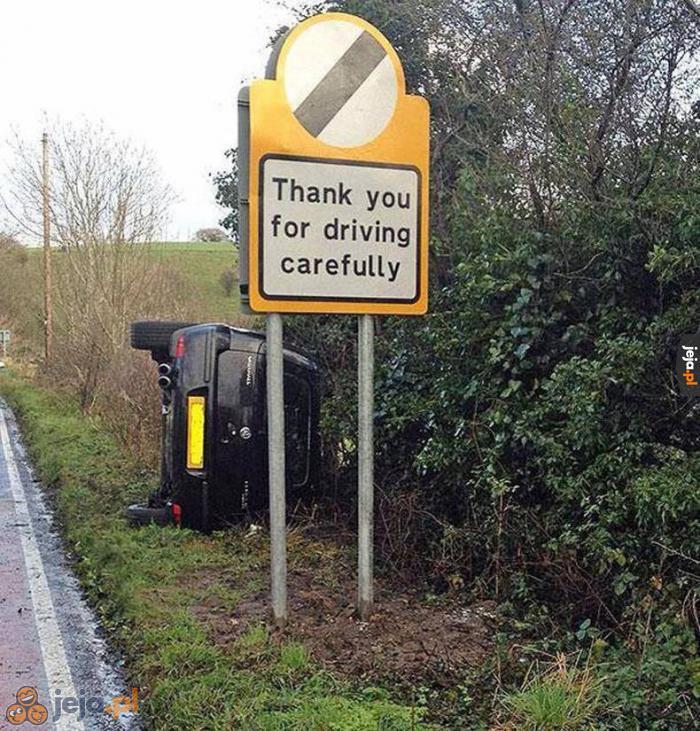 Dziękujemy za ostrożną jazdę
