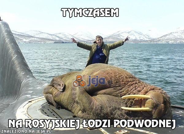 Tymczasem na rosyjskiej łodzi podwodnej