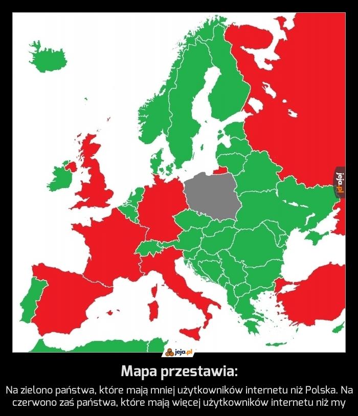 Mapa przestawia: