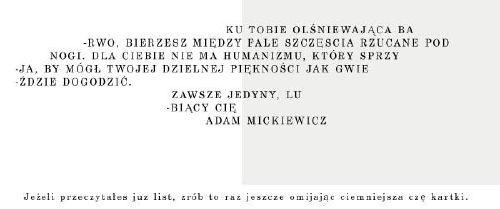 Wiersz Adama Mickiewicza Jejapl