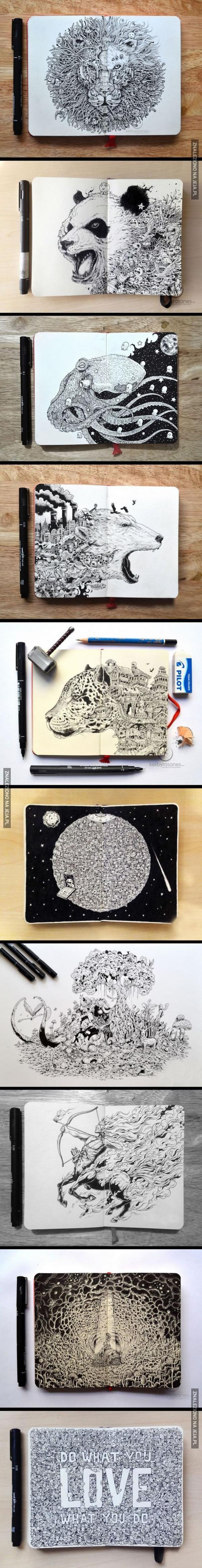 Super szczegółowe rysunki