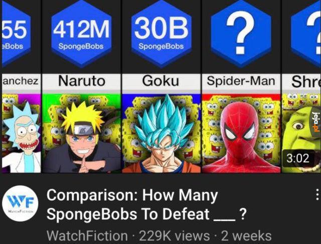 Ile potrzeba SpongeBobów do pokonania...