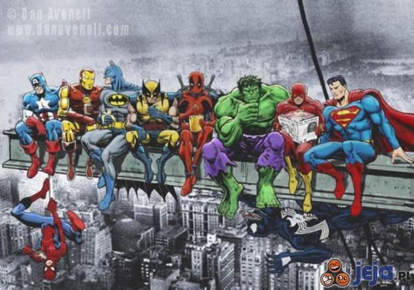 Superbohaterowie w czasie przerwy