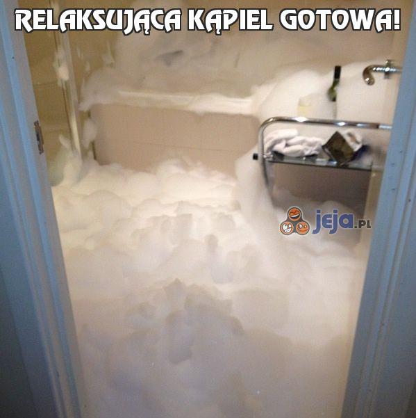 Relaksująca kąpiel gotowa!