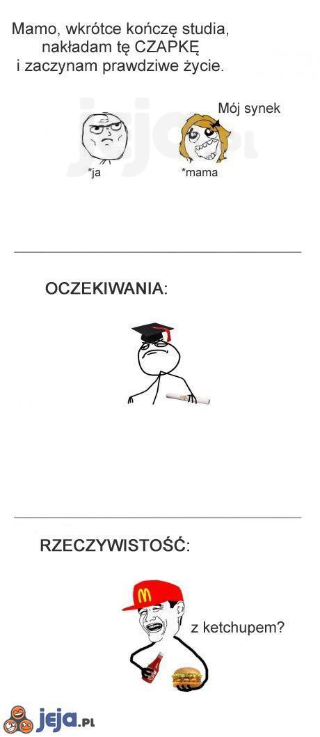 Wkrótce kończę studia...