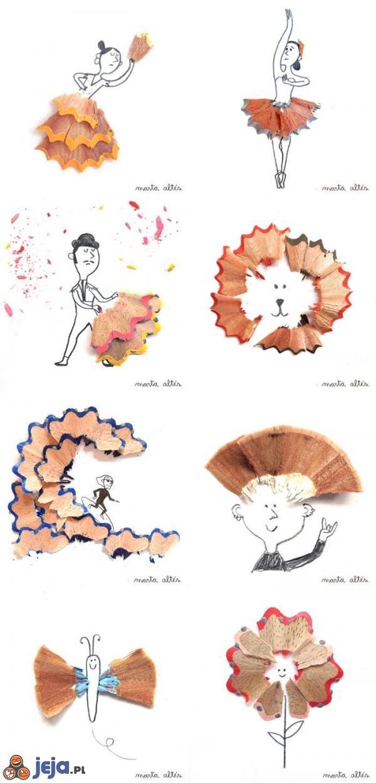 Sztuka z niczego: Wióry po ostrzeniu ołówka