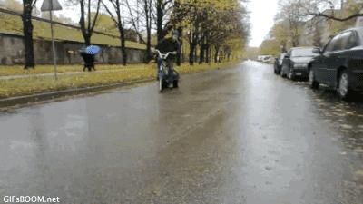 Driftowanie na rowerze