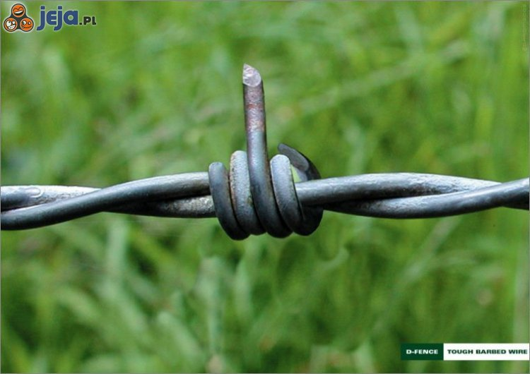 Sztuka obrony - drut kolczasty