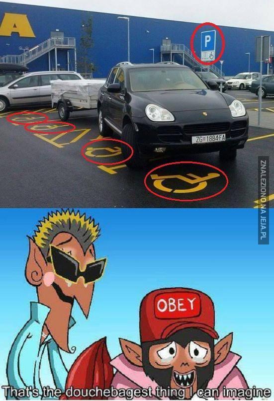 Tak parkuje prawdziwy dupek