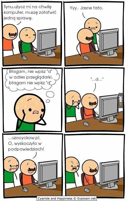 Synu, użycz mi komputer