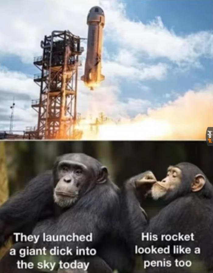 Frapujący kształt rakiety