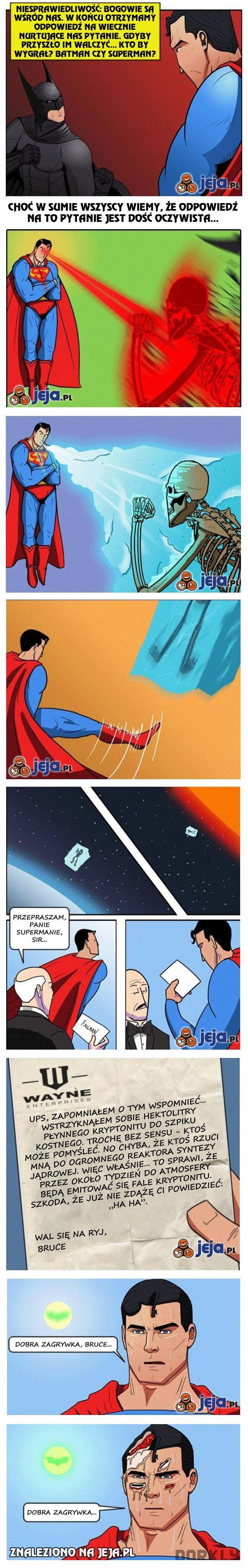Kto wygra, Batman czy Superman?