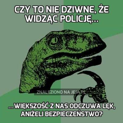 Czy to nie dziwne, że widząc policję...