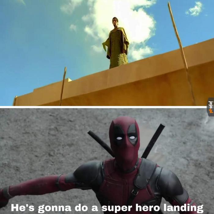 Lądowanie superbohatera!