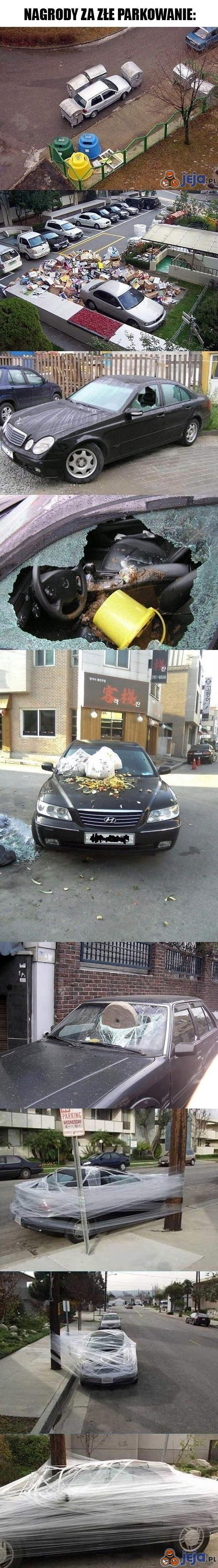 """""""Nagrody"""" za złe parkowanie"""