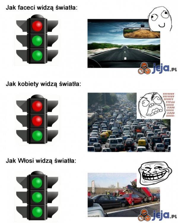 Światła drogowe - różne perspektywy
