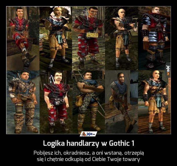 Logika handlarzy w Gothic 1