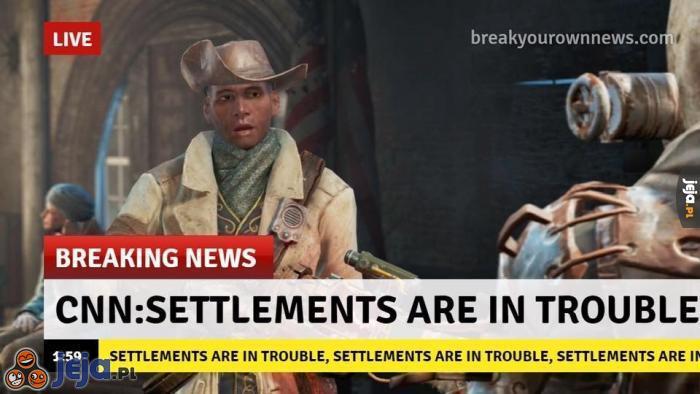 Osady w niebezpieczeństwie