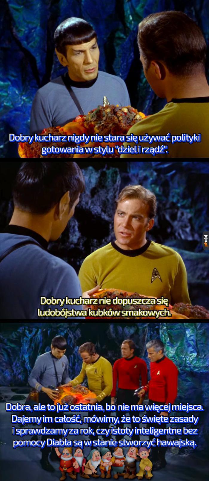 Star Trek i Przykazania Kucharza