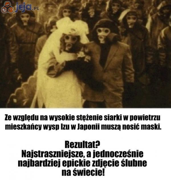 Straszne i zarazem epickie zdjęcie ślubne