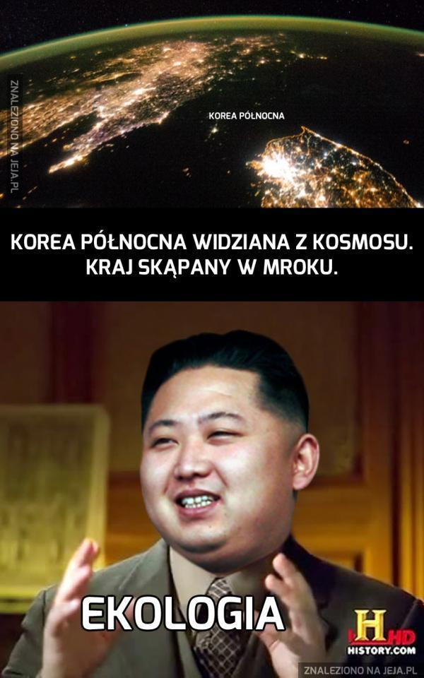 Korea Północna nocą