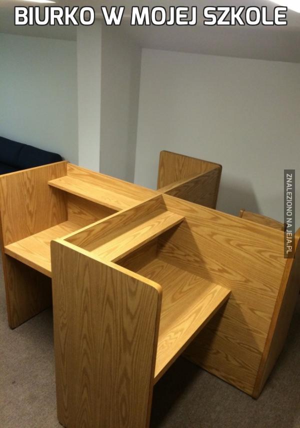 Biurko w mojej szkole
