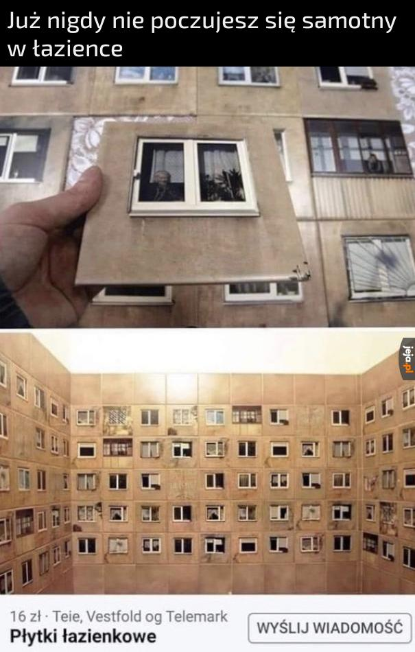 Płytki otwierające okno na świat