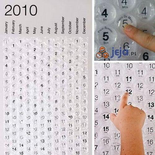 Kalendarz z folii bąbelkowej