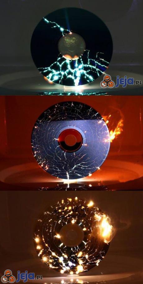Płyty CD w mikrofalówce