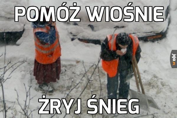 Drogowcy dzielnie walczą ze śniegiem