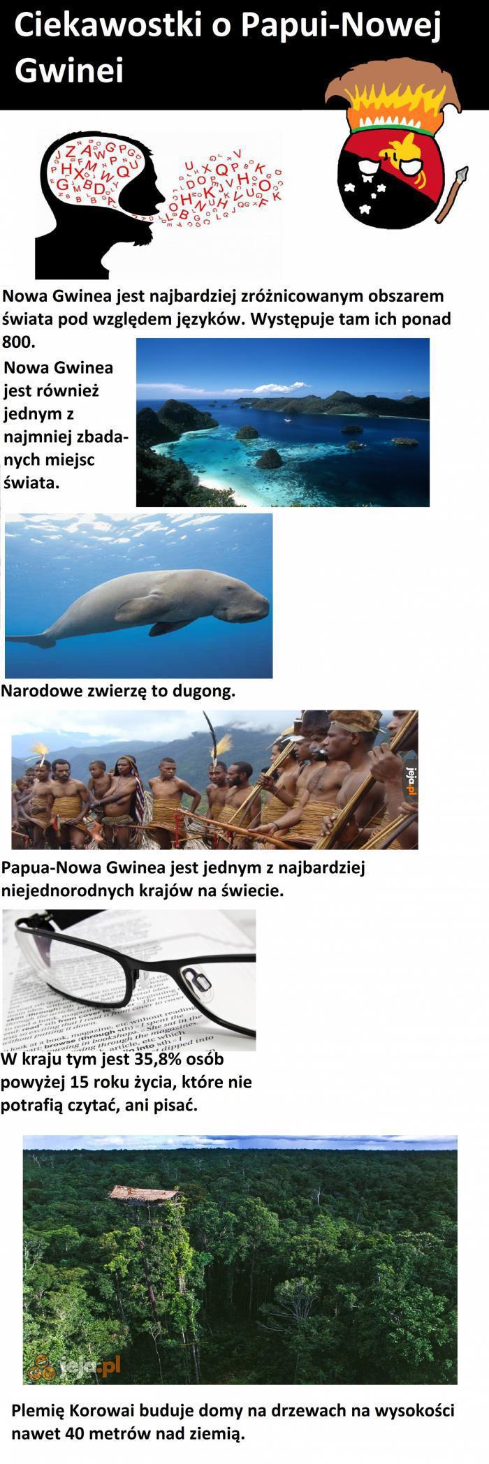 Ciekawostki o Papui-Nowej Gwinei