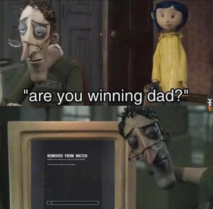 Wygrywasz, tato?