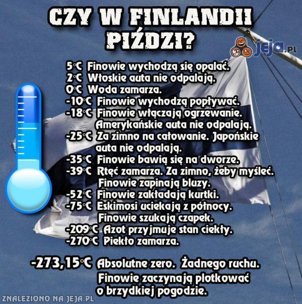 Czy w Finlandii piździ? TAK.