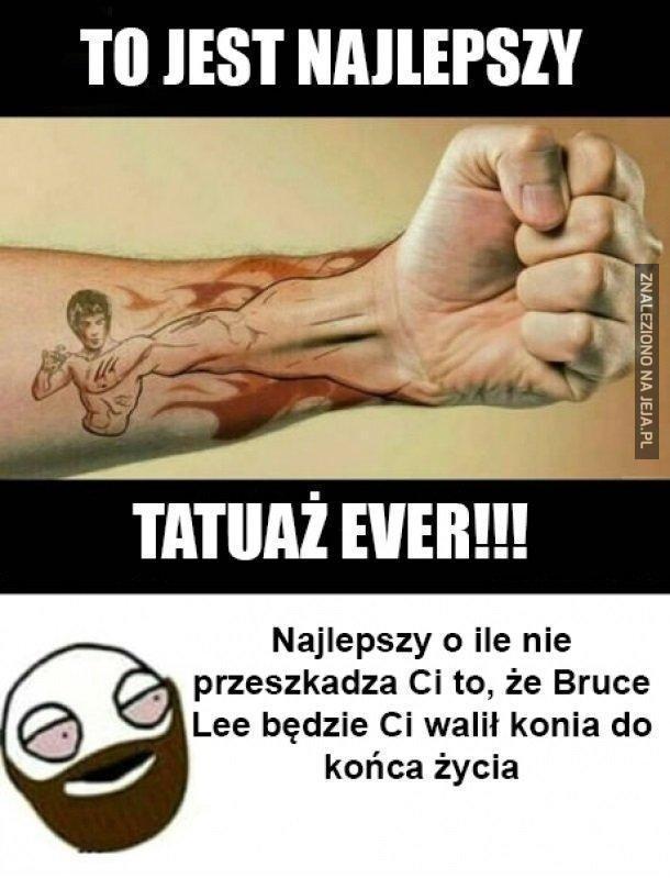 Tatuaż z Brucem