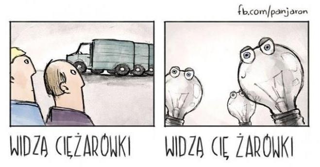 Widzą ciężarówki