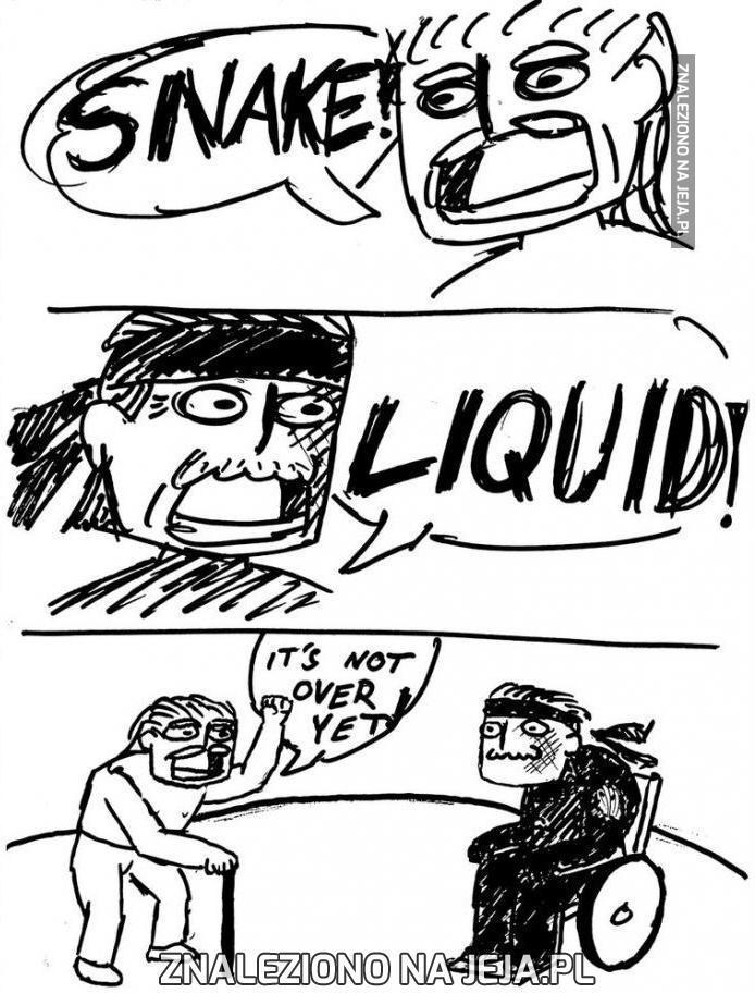 Snake vs liquid - wersja realistyczna