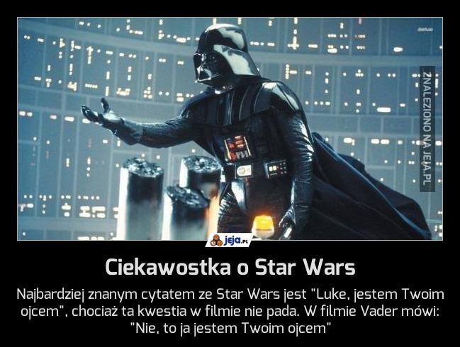 Ciekawostka o Star Wars