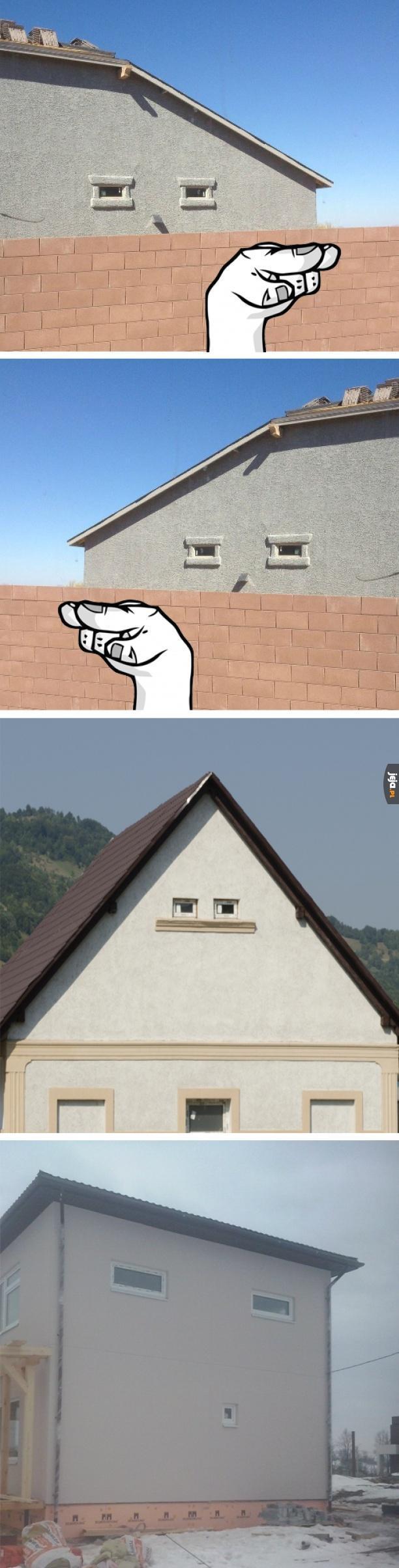 Twarz widzę w tym budynku!